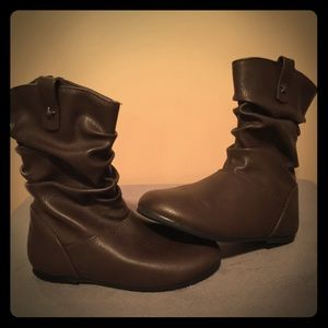 Children's Place - Brown, slouch boots